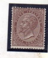 ITALIA REGNO ITALY KINGDOM 1863 - 1865 VITTORIO EMANUELE II CENT. 30c BEN CENTRATO FIRMATO SIGNED - 1861-78 Vittorio Emanuele II