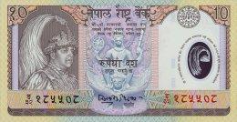 Nepal 10 Rupees (2002) Pick 45 UNC - Népal