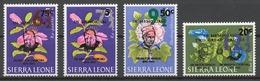 Sierra Leone 1967 Mi# 376-79** DEFINITIVE, FLOWERS, IN MEMORIAM MILTON MARGAI AND WINSTON CHURCHILL - Sierra Leone (1961-...)