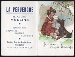 Calendriers > Petit Format : 1941-60 Moulins La Pervenche Je T Aime Un Peu Beaucoup... - Calendriers