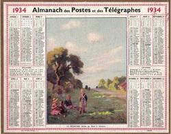 ALMANACH DES POSTES 1934 - FORMAT LIVRET CARTONNE SIMPLE- COMPLET AVEC CARTE - DEPARTEMENT DE LA LOIRE INFERIEURE. - Calendars