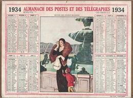 ALMANACH DES POSTES 1934 - FORMAT LIVRET CARTONNE SIMPLE- COMPLET AVEC CARTE - DEPARTEMENT DU GARD. - Calendars