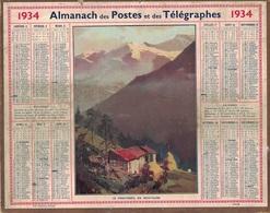 ALMANACH DES POSTES 1934 - FORMAT LIVRET CARTONNE SIMPLE- INCOMPLET SANS CARTE - DEPARTEMENT DU GARD. - Big : 1941-60