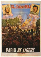 MILITARIA - Les Affiches Et Les Cris De La Liberté Affiche Brantonne Pour Journal Jeunesse Communiste L'Avant Garde 1944 - Patriotiques
