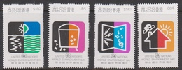 Hong Kong Scott 570-573 1990 World Environment Day, Mint Never Hinged - Hong Kong (...-1997)