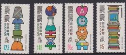Hong Kong Scott 588-591 1991 Education, Mint Never Hinged - Hong Kong (...-1997)