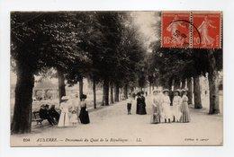 - CPA AUXERRE (89) - Promenade Du Quai De La République (belle Animation) - Editions Lévy 104 - - Auxerre