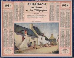 ALMANACH DES POSTES 1934 - FORMAT LIVRET CARTONNE SIMPLE- COMPLET - DEPARTEMENT DE LA SEINE - Calendars