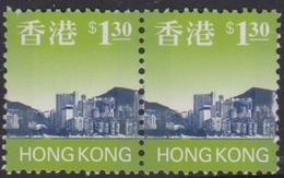 Hong Kong Scott 768 1997 Hong Kong Skyline $ 1.30 Pair, Mint Never Hinged - Hong Kong (...-1997)