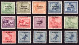 Ruanda 0062/76* Vloors - 1916-22: Neufs
