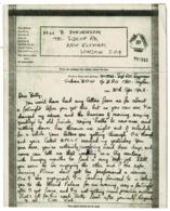 Ref 1253 - 1943 WWII Censored Airgraph - Ceylon Sri Lanka To London - Ceylon (...-1947)
