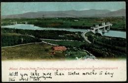 Ref 1253 - 1904 Postcard - Menai Straits & Bridge - Caernarvonshire Wales - Caernarvonshire