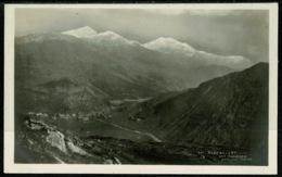 Ref 1253 - Early Real Photo Postcard Beddgelert & Snowdon - Caernarvonshire Wales - Caernarvonshire
