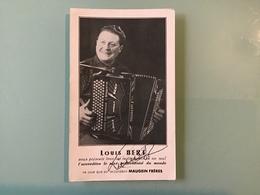 Louis BERT - Accordéoniste TALISSIEU - AIN - Photo Dédicacée - Artistes