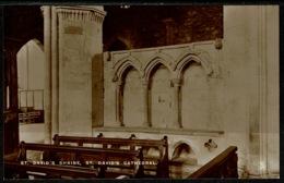 Ref 1254 - Raphael Tuck Real Photo Postcard - St David's Shrine St David's Cathedral Wales - Pembrokeshire