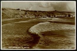 Ref 1254 - 1952 Real Photo Postcard - Whitesands Bay St Davids Pembrokeshire Wales - Pembrokeshire