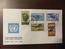 Zypern, 1964, UNO, MI 228-232  FDC  #cover4588 - Chypre (République)