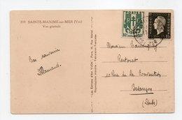 - Carte Postale SAINTE-MAXIME-SUR-MER (Var) Pour BESANCON (Doubs) - 1 F. 20 Marianne De Dulac + 30 C. Chaînes Brisées - - 1944-45 Maríanne De Dulac