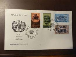 Zypern, 1966, UNO, MI 228-232  FDC  #cover4589 - Chypre (République)