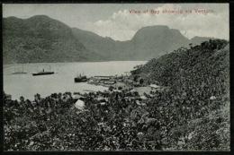 Ref 1254 - Early Postcard S/S Ship Ventura At American Samoa Naval Station - Pacific Island - Samoa