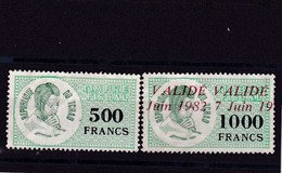 2 Timbres Fiscaux Tchad - Tchad (1960-...)