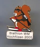 BIATHLON - World Cup,Hochfilzen Austria, Enamel Pin, Badge, Abzeichen - Biathlon