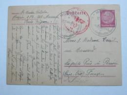 1944 , MORESNET , Karte Mit Zensur Nach Frankreich - Guerre 14-18