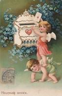 Anges : Gaufrée : Ange Postant Un Message ( Nouvel An ) - Angels