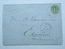 1867 , PREETZ , Klarer Stempel Auf Brief - Schleswig-Holstein