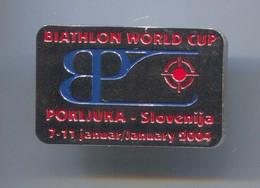 Ski Skiing Jumping - BIATHLON World Cup, Pokljuka Slovenia, Pin, Badge, Abzeichen - Biathlon