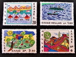 DESSINS D'ENFANTS 1967 - NEUFS ** - YT 940/43 - MI 962/65 - Griechenland
