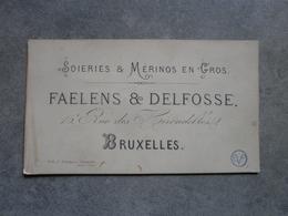 Bruxelles. Faelens & Delfosse (Litho Severeyns Bruxelles) - Cartes De Visite