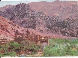 Morocco Postcard Sent To Denmark 27-3-1984 (Sud Marocain Village Sur Le Route De Boumalene Du Dades) - Morocco