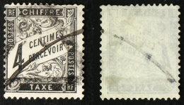 N° TAXE 13 4c DUVAL NOIR Oblit B Cote 45€ - 1859-1955 Oblitérés