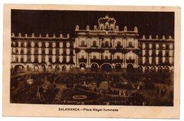 Tarjeta Postal De Salamanca - Plaza Mayor  Circulada. - 1931-Hoy: 2ª República - ... Juan Carlos I