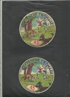 """70 - Haute Saone - Brussey - E.Choix - """" étiquettes : Un Fameux Fromage """" Chiens Voleurs- Enfants-Laiterie-Réf.30 - Formaggio"""