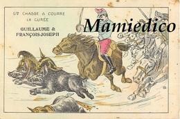 Humour Satirique Guerre De 1914 N°2. Chasse à Courre. La Curée. Guillaume Et François Joseph Poursuivis(Casque à Pointe) - Humoristiques