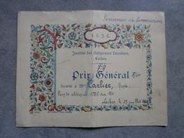 Bruxelles - Laeken. 1940. Institut Des Religieuses Ursulines. - Diplômes & Bulletins Scolaires