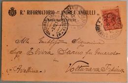 R. RIFORMATORIO ANDREA ANGIULLI - FP VG 1916 CON FRANCOBOLLO - Caserta