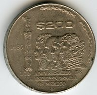 Mexique Mexico 200 Pesos 1985 175 Ans D'indépendance KM 509 - Mexique