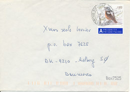 Switzerland Cover Sent To Denmark 24-11-2003 Single Franked Bird - Suisse