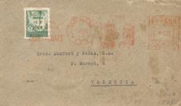 Ø 67 Más Franqueo Mecánico En Carta De Circulada A Valencia El 3/11/1945. - Barcelona