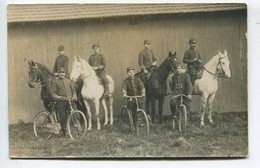 Militaires Cyclistes Camp Du Ruchard Carte Photo - Frankrijk