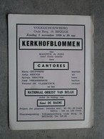 Brugge 1958. Kerkhofblommen Door Cantores. - Programma's