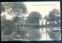 Cpa Du Viêt Nam Hanoi Le Pont De La Pagode Du Petit Lac    YN43 - Viêt-Nam