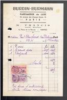 FACTURE 1943 BURDIN BURMANN PARFUMERIE DE LUXE 70 AVENUE DES CHAMPS ELYSES A PARIS - Parfums & Beauté