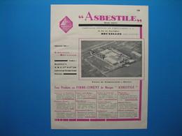 (1933) A Bruxelles : Fibro-Ciment ASBESTILE - Usines Schoonaerde-s-Escaut - Mosaïques J. GODCHOUL - Cuisinières V. ARLET - Vieux Papiers