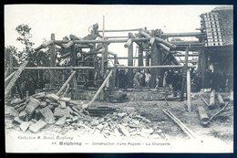 Cpa Du Viêt Nam Haiphong Construction D' Une Pagode , La Charpente    YN43 - Viêt-Nam