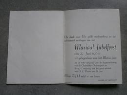 Poperinge. Mariaal Jubelfeest 1954. - Programma's