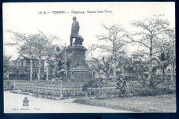 Cpa Du Viêt Nam Haiphong Square Jules Ferry    YN43 - Viêt-Nam